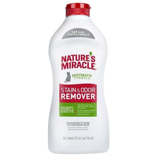 Nature's Miracle Уничтожитель пятен и запахов, для кошек, универсальный, 946 мл (флакон)