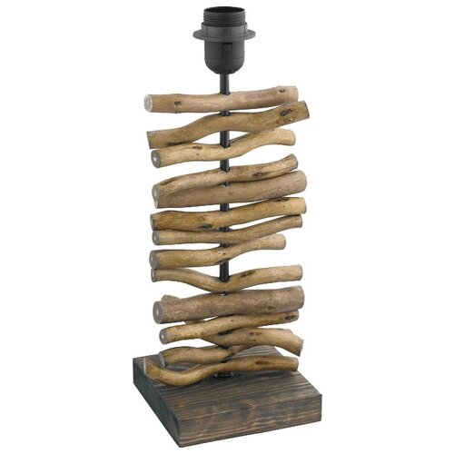 Лампа декоративная Eglo Seahouse 49754, E27, 60 Вт, цвет арматуры: коричневый настольная лампа eglo almera 89116 60 вт