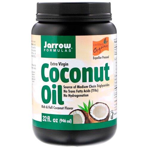 Фото - Jarrow Formulas масло кокосовое Extra Virgin, 0.946 л aroy d масло 100% кокосовое extra virgin 0 18 л