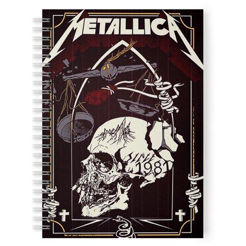 Купить Тетрадь 48 листов в клетку с рисунком Metallica весы, Drabs, Тетради