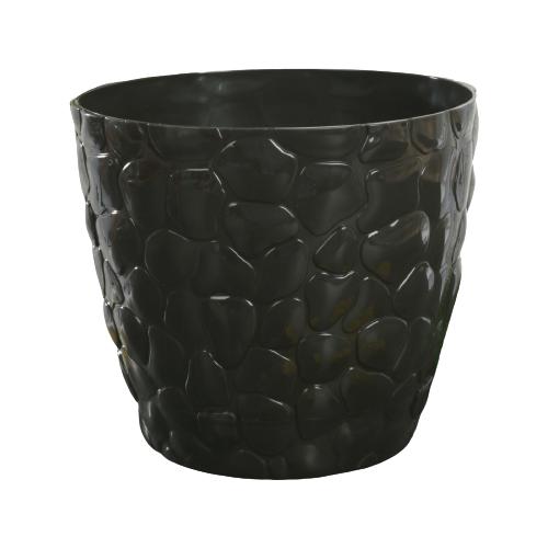 Кашпо IDEA (М-Пластика) с поддоном Камни 22 х 19 см коричневый по цене 459