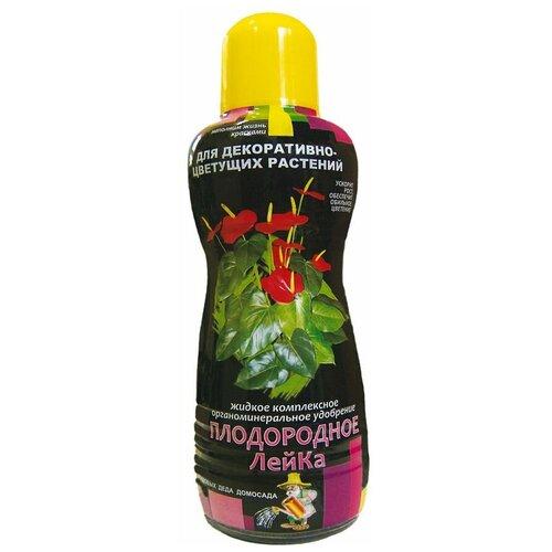 Удобрение ПКФ Усадьба Плодородное-ЛейКа для декоративно-цветущих растений, 0.5 л