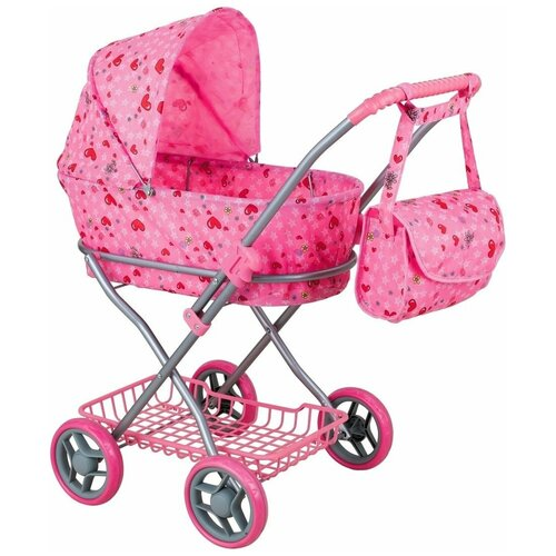 Купить Коляска-люлька Buggy Boom Mixy (8019) светло-розовый/сердечки, Коляски для кукол