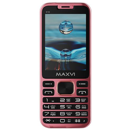 Телефон MAXVI X10 розовое золото