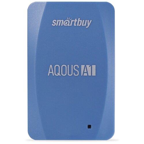 Фото - Внешний SSD Smartbuy Aqous A1 256GB USB 3.1 СИНИЙ внешний ssd smartbuy aqous a1 512gb usb 3 1 серый