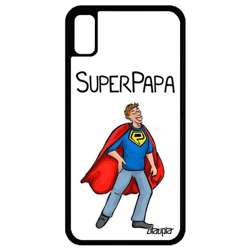Чехол для Айфона XR уникальный дизайн Суперпапа Комичный Рисунок