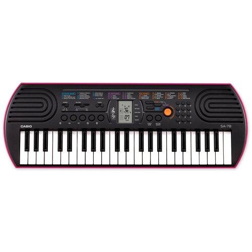 Синтезатор CASIO SA-78 черный / розовый