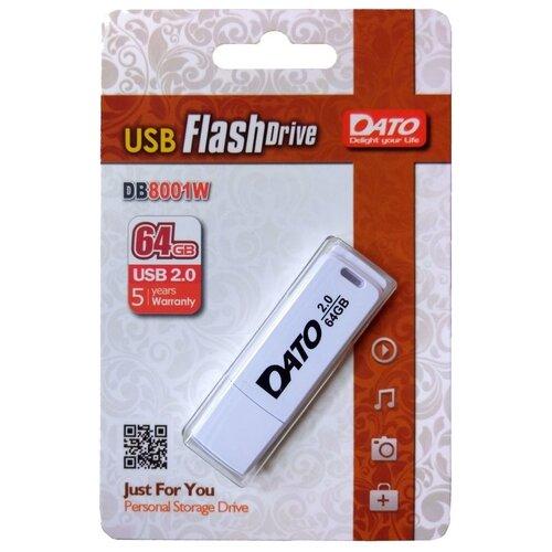 Флешка DATO DB8001 64 GB, 1 шт., белый