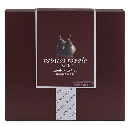 Конфеты инжир Rabitos Royale в темном шоколаде с трюфельным кремом, 425 г, Испания