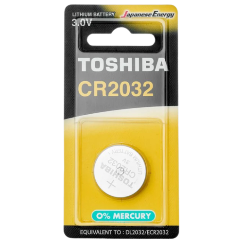 Фото - Батарейка Toshiba CR2032, 1 шт. батарейка cr2032 toshiba pw bp 5 5шт