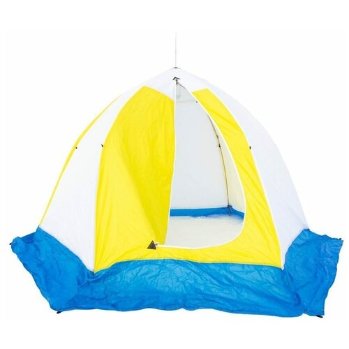 Фото - Палатка СТЭК Elite 3 (трехслойная, дышащая) белый/синий/желтый палатка jian hong замок принца 200280835 синий желтый