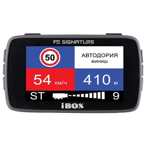 Видеорегистратор с радар-детектором iBOX Combo F5 Signature, GPS, ГЛОНАСС, черный