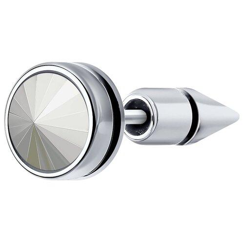SOKOLOV Серьга из серебра с эмалью и кристаллом Swarovski 94170149