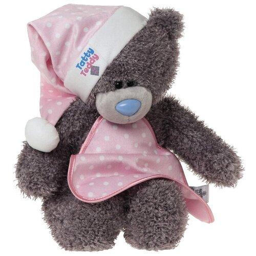 Мягкая игрушка Me to you Мишка Тедди в ночном колпачке с одеялом 28 см
