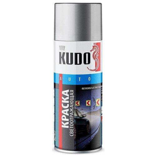 Краска KUDO светоотражающая, светло-серый, 520 мл