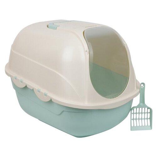 Туалет для кошек домик STEFAN, размер 53х41х42cm / Туалет-домик/ Лоток для кошек закрытый / Туалет для кошек закрытый
