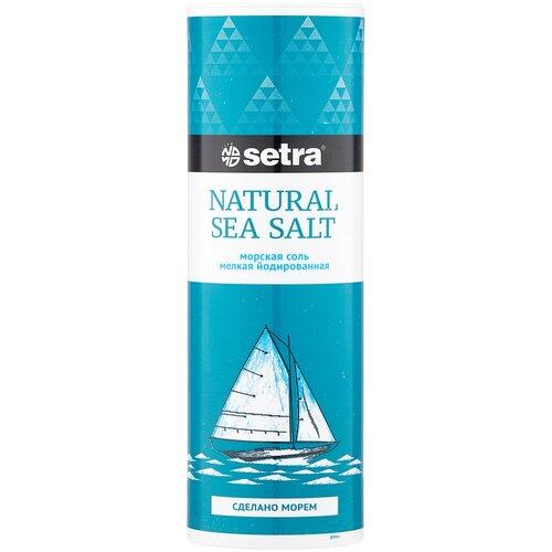 setra соль морская мелкая йодированная с пониженным содержанием натрия 500 г Setra Соль морская йодированная мелкая, 250 г
