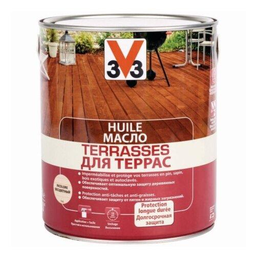 Водозащитная пропитка V33 Масло для террас 2.5 л