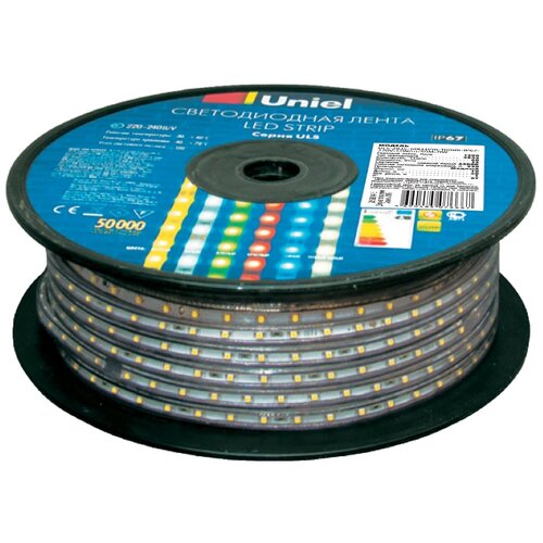 Фото - Светодиодная лента Uniel ULS-2835-60LED/m-10mm-IP67-220V-8W/m-50M-BLUE, 50 м светодиодная влагозащищенная лента uniel uls 2835 60led m 10mm ip67 220v 8w m 50m blue