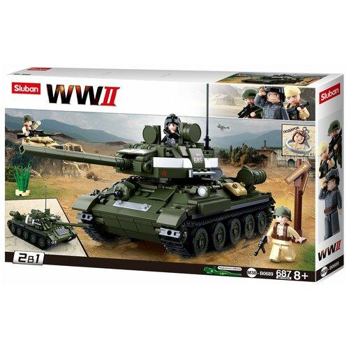 Конструктор SLUBAN WW2 M38-B0689 Танк конструктор sluban ww2 m38 b0682 газ 67