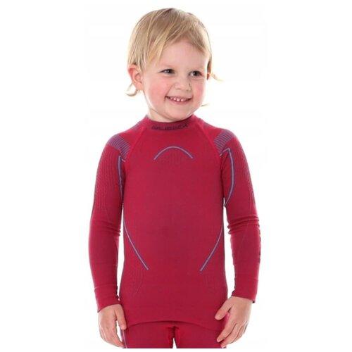 Термобелье детское для девочек Brubeck футболка с длинным рукавом THERMO рубин 104-110