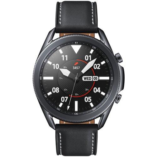 Фото - Умные часы Samsung Galaxy Watch3 45мм, черный ремешок samsung stitch leather band для galaxy watch3 45мм watch 46мм коричневый