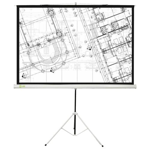 Рулонный матовый белый экран cactus Triscreen CS-PST-127x127