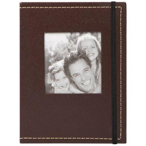 Фотоальбом BRAUBERG под фактурную кожу с застежкой (390658), 36 фото, 10 х 15 см, коричневый фотоальбомы и рамки brauberg фотоальбом под фактурную кожу на 200 фото 10x15 см