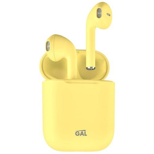 Беспроводные наушники GAL TW-3500, matt yellow
