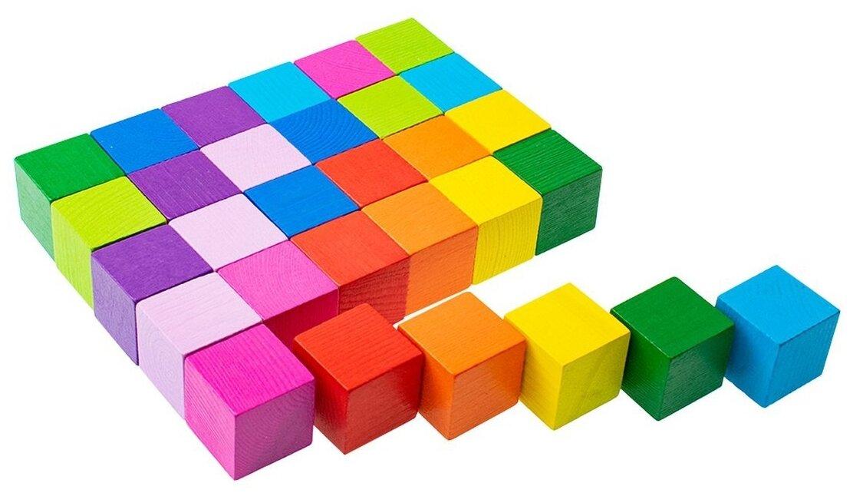 Кубики Томик Цветные 1-45 — купить по выгодной цене на Яндекс.Маркете