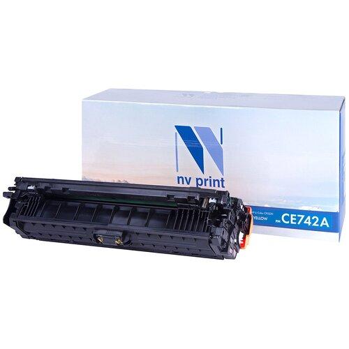 Фото - Картридж NV Print CE742A для HP, совместимый картридж nv print ce412a для hp совместимый