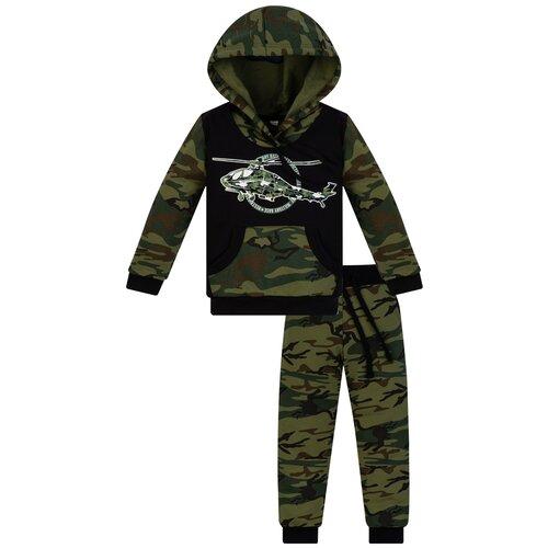 Спортивный костюм Утенок размер 98, хаки/черный/экспедиция недорого