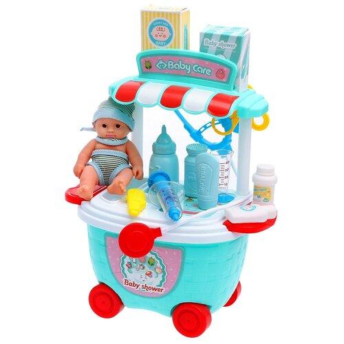 Купить Игровой модуль Тележка здоровья с пупсом, 24 предмета, Dade Toys, Роботы и трансформеры