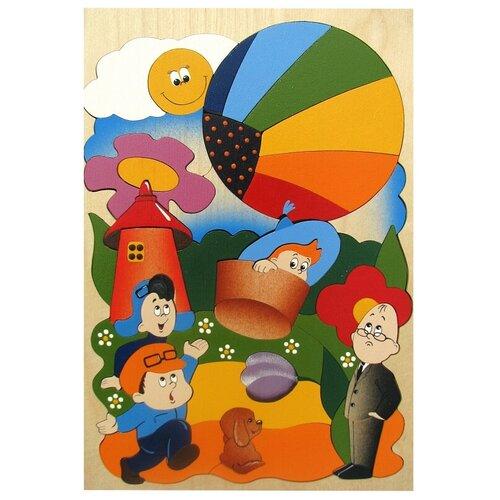 Рамка-вкладыш Крона Незнайка на воздушном шаре (143-030), 48 дет. рамка вкладыш крона азбука в картинках 143 073 50 дет