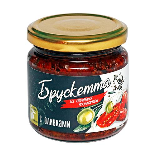 Фото - Брускетта из вяленых томатов с оливками, 190г ECOFOOD tomtom брускетта из вяленых томатов с кедровыми орешками 140 г