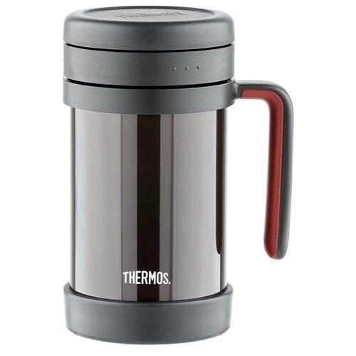 Классический термос Thermos TCMF-501, 0.5 л черный/бордовый