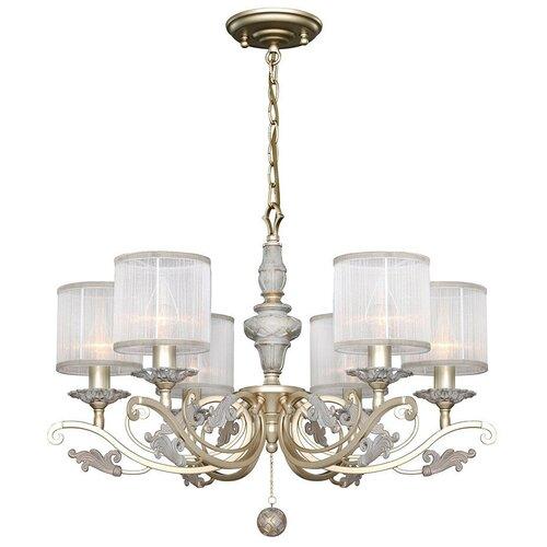Люстра Favourite Seraphima 2307-6P, E14, 240 Вт, кол-во ламп: 6 шт., цвет арматуры: серый, цвет плафона: белый