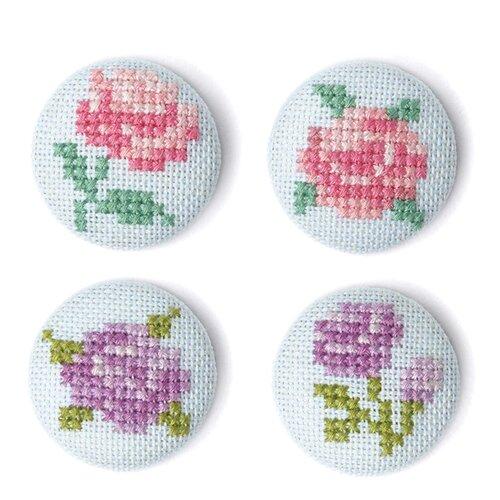 Купить Набор для вышивания заколок Цветы XIU Crafts 2871103, Наборы для вышивания