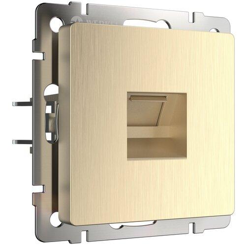 Розетка Ethernet RJ-45 шампань рифленый Werkel W1181010/ Розетка Ethernet RJ-45 (шампань рифленый)