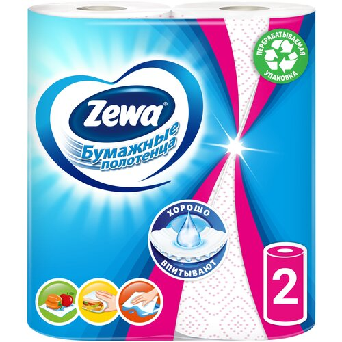 Полотенца бумажные Zewa Декор двухслойные, 2 рул.