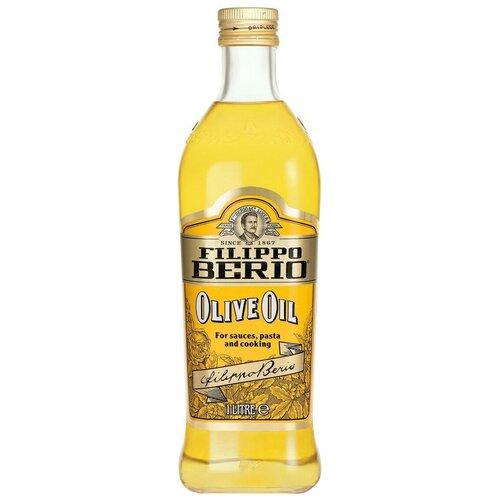 Filippo Berio масло оливковое, стеклянная бутылка, 1 л