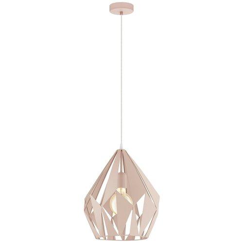 Потолочный светильник Eglo Carlton-P 49024, E27, 60 Вт, кол-во ламп: 1 шт., цвет арматуры: бежевый, цвет плафона: бежевый потолочный светильник eglo 94635 e27 60 вт