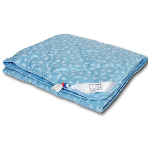 Одеяло АльВиТек Лебяжий Пух, легкое, 200 х 220 см (голубой)