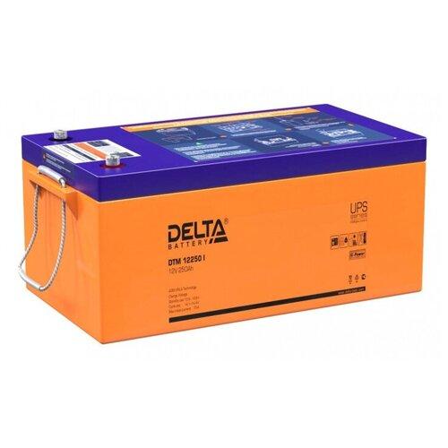 Аккумуляторная батарея DELTA Battery DTM 12250 I 250 А·ч аккумуляторная батарея delta battery dtm 1233 i 33 а·ч