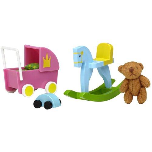 Набор аксессуаров Lundby Игрушки для детской LB_60509100 розовый/голубой/зеленый