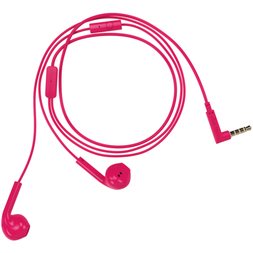Наушники Happy Plugs Earbud Plus, cerise