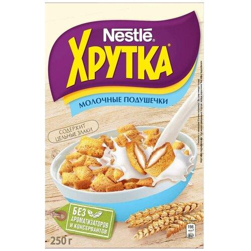 Фото - Готовый завтрак Хрутка Молочные подушечки, коробка, 250 г готовый завтрак tsakiris family лепестки шоколадные коробка 250 г
