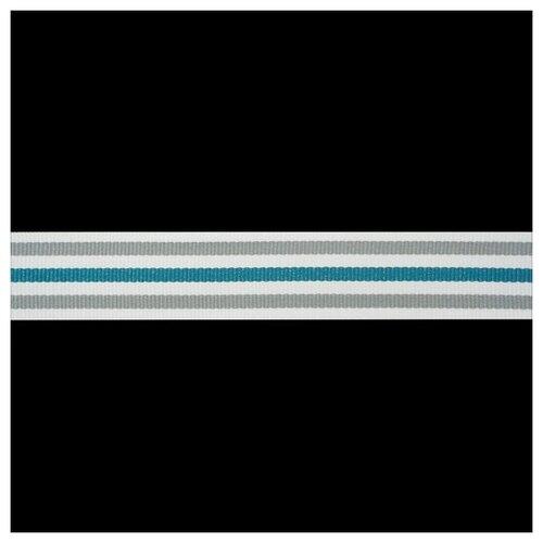 Р90133 Лента отделочная бел/сер/м.волна 30мм*50м 50 м