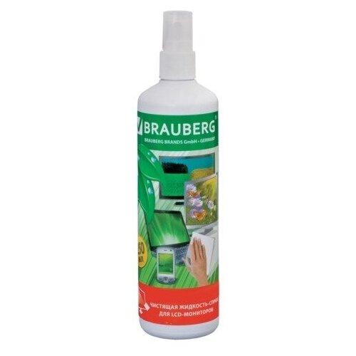 Фото - Чистящая жидкость-спрей BRAUBERG для LCD (ЖК)-мониторов 250 мл чистящая жидкость спрей brauberg 513288