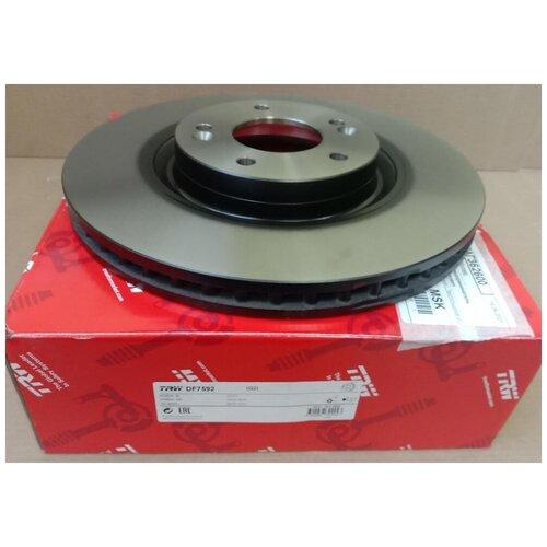 Диск тормозной передний Хендай I40 2011-2015, Хендай IX35 2013 - 2015, Киа оптима 2010 - 2015 / арт. DF7592 / бренд TRW / Комплект 2 шт.